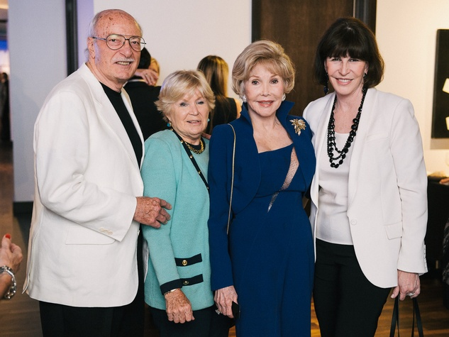 12 Shafik Rifaat, from left, Posey Parker, Joanne King Herring and Shelby Hodge at CultureMap fifth anniversary birthday party October 2014