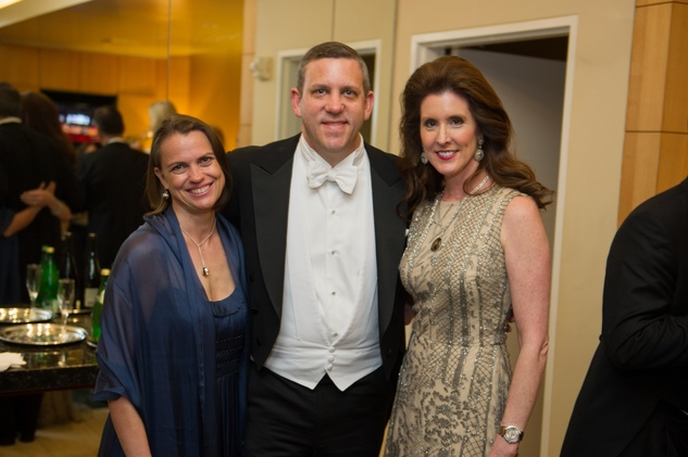 2954 Rosie Jowitt, from left, Matthew VanBesien, and Phoebe Tudor at the Houston Symphony Centennial Ball May 2014