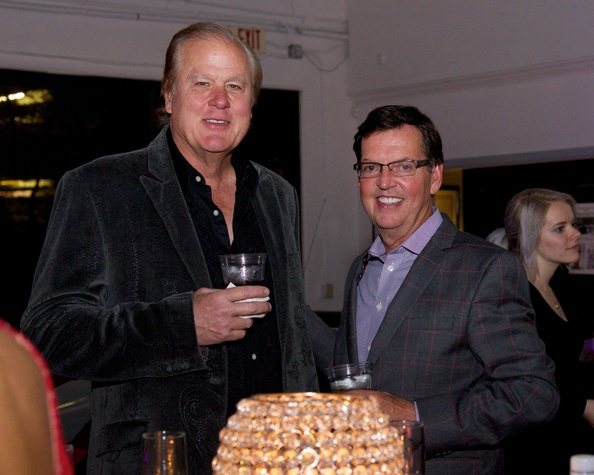 Lamar Roemer and Richard Lane at Woodlands fashion preview party