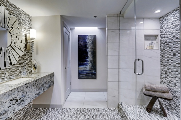 6007 Memorial, shower