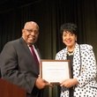 1434 Dr. Vernus C. Swisher and Debra McGaughey at the Career and Recovery Luncheon July 2014