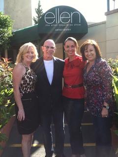 News_Lester Smith_The Ellen Show_We Arrive at The Ellen Show_Trish_Lester_Sue_Cherri