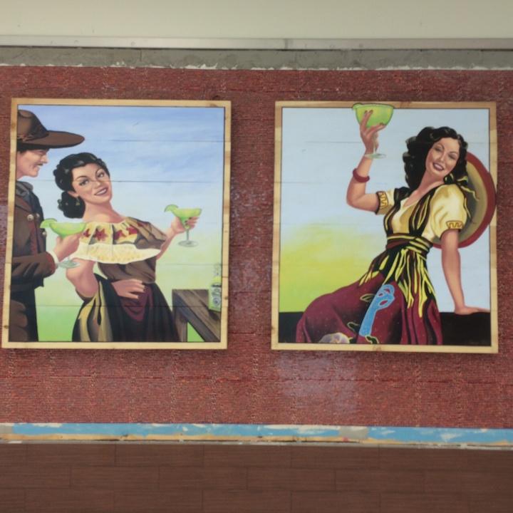 Art at Pappasito's at Hobby Airport new international terminal