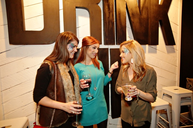 13 Julia Wood, from left, Meagan Killion and Jessica Sanberg at Gray's Public House Mardi Gras grand opening benefiting Urban Green February 2015