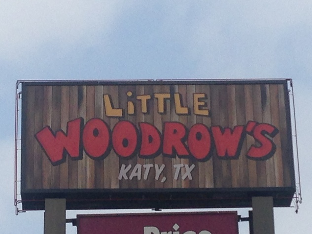 Little Woodrow's Katy sign