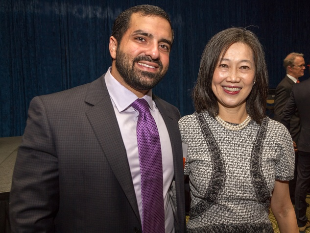 Raja Mawad and Anne Chao at the Teach For America benefit dinner