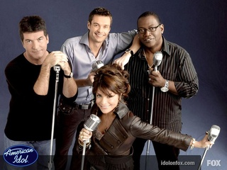 Original American Idol cast Simon Cowell, Paula Abdul, Randy Jackson and Ryan Seacrest