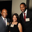Rodney Woods, from left, Brenda Olson and Tracy McGrady at the Johnny Mac Soldiers Fund Inaugural Houston Gala April 2015