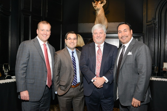 18 Ryan Patterson, from left, Nick Ibanez, Walter Christopherson and Hernaldo Rivera at the Krist Samaritan Gala November 2014