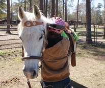 Houston, Freedom Place, January 2016, girl with horse