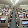 Emirates A380 in Houston December 2014 Economy Class Cabin