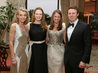 1 CancerForward Houston Gala May 2013 Alice Burguieres, Stephanie Harcrow, Jennifer Monteleone and Will Monteleone