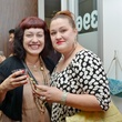 28. Natasha Schuett, left, and Cleopatra Tomic at the Hanh Tran Gallery opening June 2014
