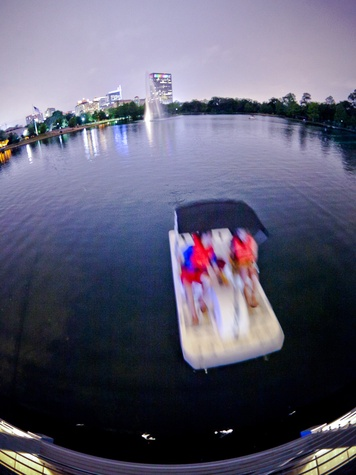 009 Hermann Park paddle boats at night
