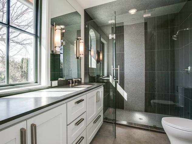 Custom contemporary bathroom