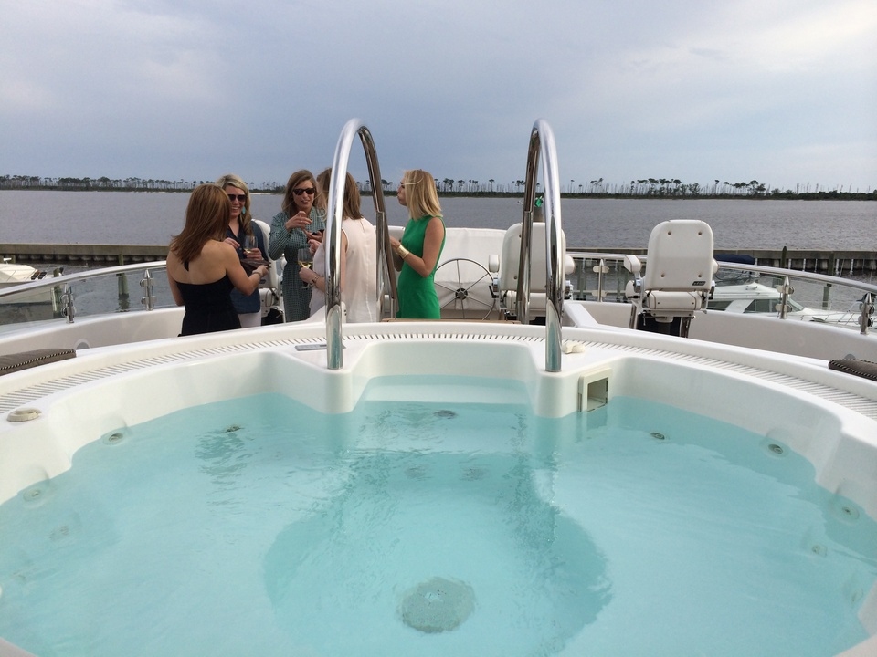 Whirlpool on Tilman Fertitta yacht May 2014