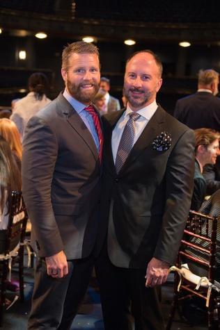 Kevin Black, Tony Bradfield at Houston Ballet Opening Night Dinner