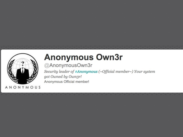 Anonymous Own3r, hacker, twitter