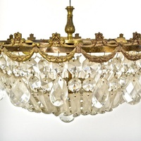 Vintage bronze chandelier from Everything But The House