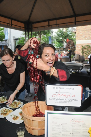 Susie Jimenez at the Curry Crawl May 2014