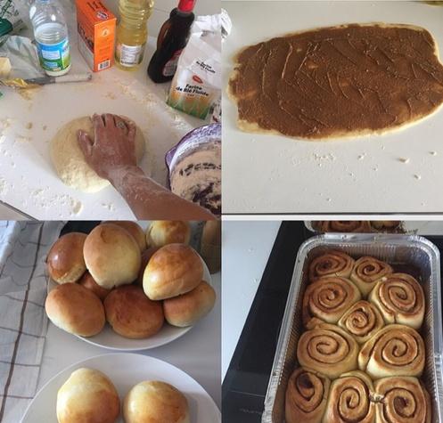 Caroline Wozniacki baking