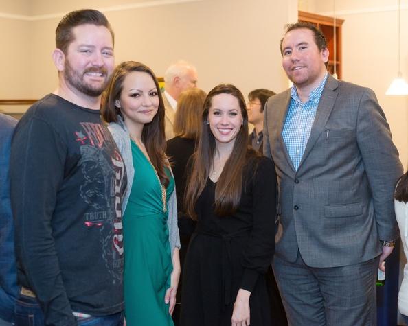 Opera in the Heights, Jan. 2016, Bravissimo, OITH_Bravissimo_Cocktail_Dan Mathena, Mariam Khalili, Marianne Terrell ,Jesse Soto