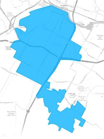 Google Fiber Austin map