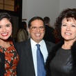 Elizabeth Gonzalez, from left, with Roberto Gonzalez and Irma Diaz-Gonzalez at the Houston Cinema Arts Festival opening party November 2014