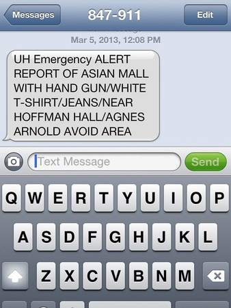 University of Houston, campus alert, gunman on campus