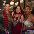 Sergio Galvan, Bianca Xoyamayagua-Galvan and Stephanie Webb at Bollywood Ball