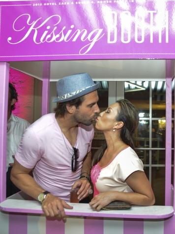 Michael Chabala, Lily Jang at Hotel ZaZa Party in Pink July 2013