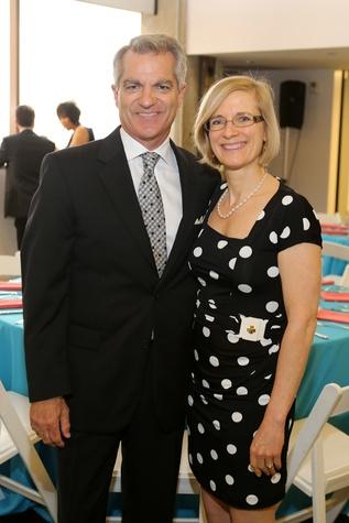 5318 Mary Margolis and Tony Canino at the Alley Opening Night dinner May 2014