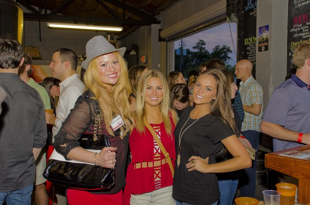 5 Lauren Scotton, from left, Stacey Tyler and Mackenzie Haltom at the Bear Bryant Awards young professionals party October 2014