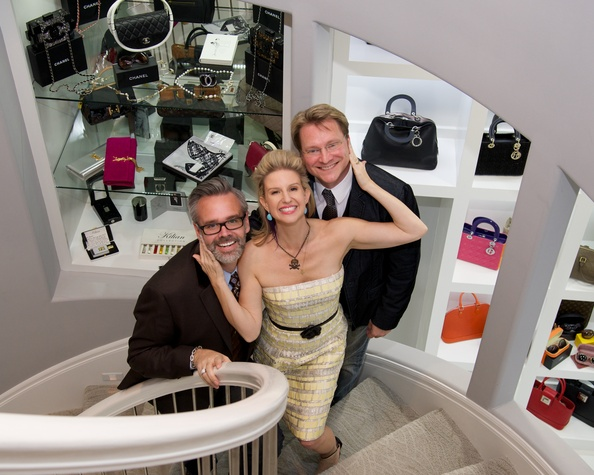 Michael Pearce, from left, Lori Freese and Matt Burrus at Theresa Roemer first charity closet party November 2014