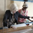 Raven + Lily CEO Kirsten Dickerson at the loom