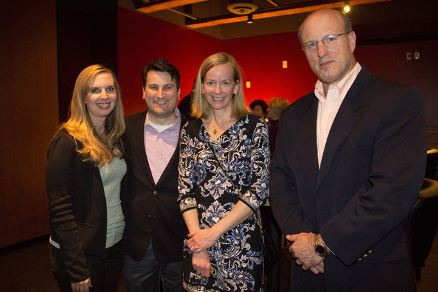 Linda and John Bates, from left, Carrie Altman and Keith Solomon at Churrascos' grand opening event February 2014