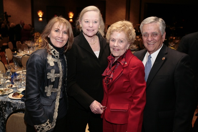 56 Lynn Baird, from left, Flo Crady, Emily Crosswell and Ned Torian at An Evening with a Legend February 2015