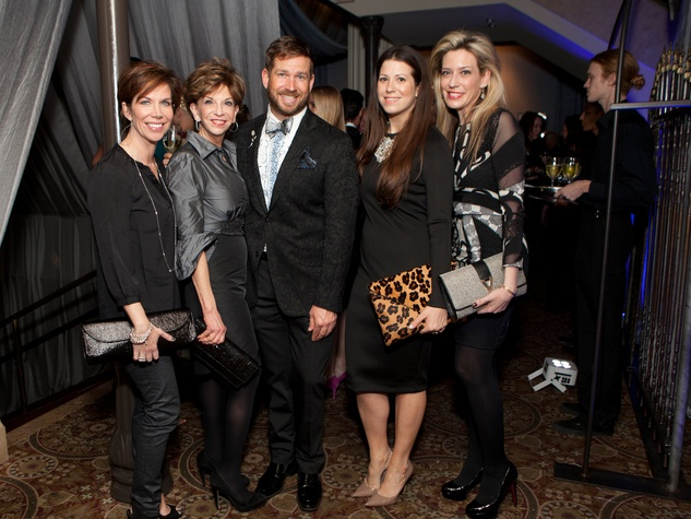 54 Rosanne Rogers, from left, Vicki Rizzo, Jeff Shell, Ally Shell and Mauir Oliver at the Night Circus party January 2014