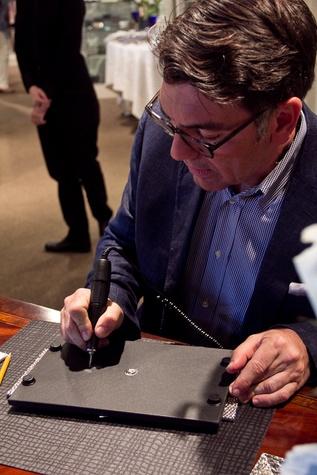 Houston, Michael Aram, May 2015, Michael Aram signing autographs