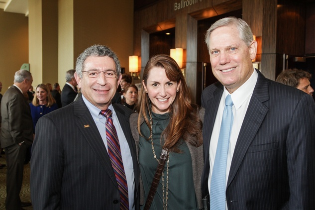 Dr. Paul Klotman, from left, with Brooke and Corby Robertson at the National Philanthropy Day Awards November 2014