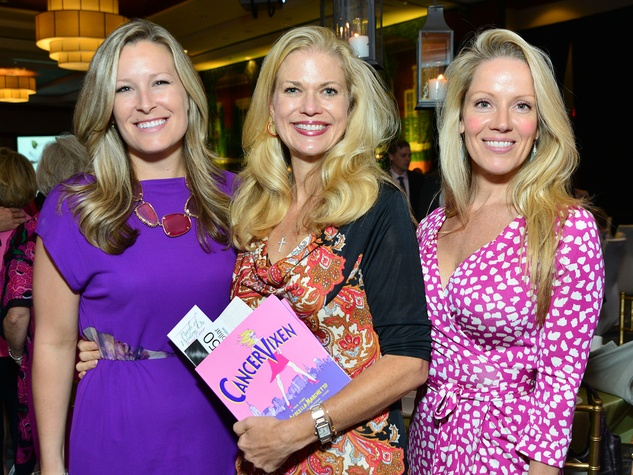 Bethany Buchana, from left, Amy Pierce and Melissa Edwards at the Memorial Hermann Razzle Dazzle Pink Luncheon October 2013