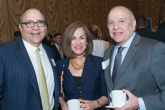 David Mendez, left, with Margie and Tony Grijalva at the Center for Houston's Future luncheon March 2015