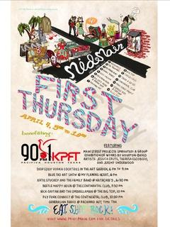 Mid Main First Thursday April 4th benefits KPFT Houston