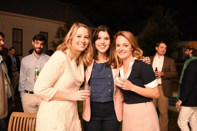 News, Pier & Beam party, Dec. 2015, Kate Parsons, Regina Romano, Hallie Crawford.