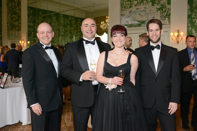 5 Jason Ryan, from left, Simon Tipper, Katie Tipper-McWhorter and Ed Townend at the Leukemia & Lymphoma Society Man and Woman of the Year Gala June 2014