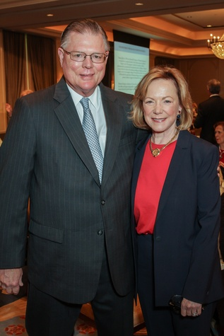 Bob and Sarita Hixon at the Houston Hospice butterfly luncheon April 2015
