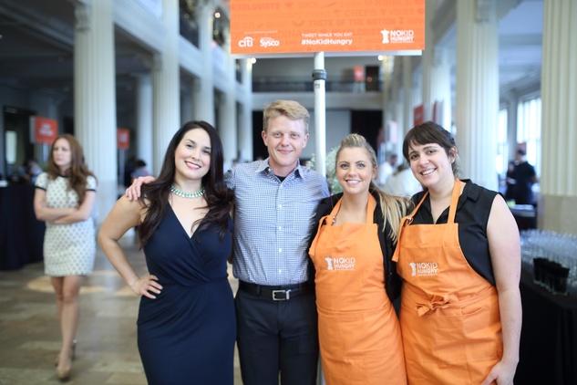 News, Taste of the Nation, Sept. 2015,  Alba Huerta, from left, Kenneth Freeman, Anna Wilkens and Caitlin Vann.