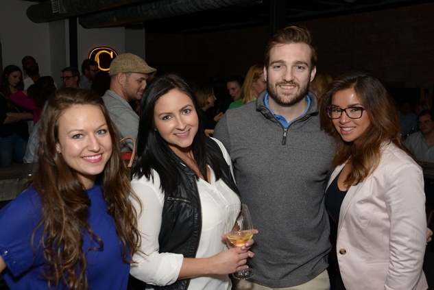 Jenna Birden, from left, Kelley Moore, Michael Wenyon and Tiffany Guillen at the Urban Wild of Memorial Park Conservancy's Launch Party March 2015