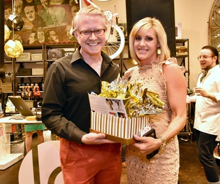 Charles Snider, Jessica Willey at Shop With Heart Card kickoff