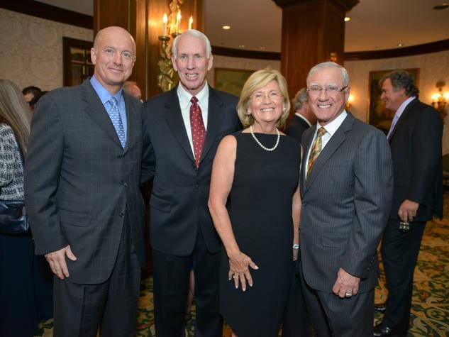 R.C. Slocum dinner, March 2013, David Sokol, R.C. Slocum, Kay Dore, Bill Dore